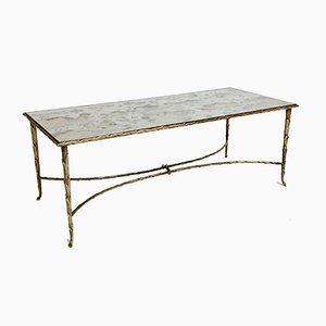 Table Basse en Bronze Doré par Maison Charles, France, 1960s