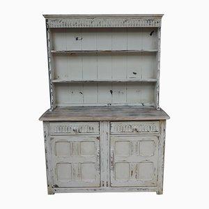 Antique Welsh Distressed Paint Dresser, 1900s