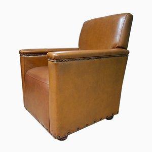 Vintage Armlehnstuhl aus gegerbtem Leder, 1970er