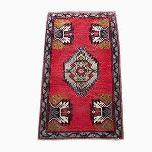 Vintage Handmade Low Pile Oushak Yastik Rug Mat, 1970s