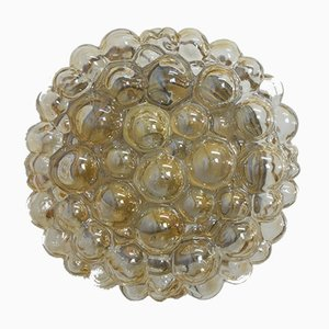 Large Mid-Century Bubble Glass Flush Mount Sconce by Helena Tynell for Limburg, 1960s
