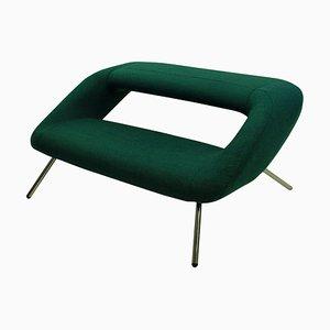 Italienisches Sofa aus verchromtem Stoff, 1960er