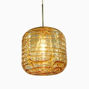 Large Mid-Century Glass Balloon Pendant Lamp from Doria Leuchten, 1960s