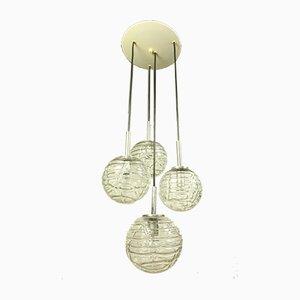 Vintage Glaskugel Hängelampe von Doria Leuchten