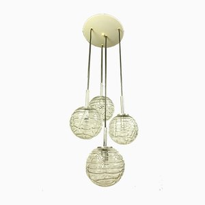 Vintage Glass Ball Pendant Lamp from Doria Leuchten