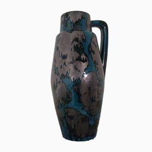 Große 270-53 Glasierte Keramik Vase von Scheurich, 1970er