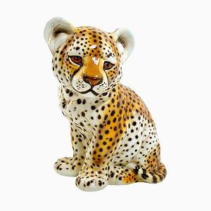 Statuette aus Keramik eines Baby Panthers im Stil von Ronzan, 1970er