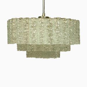 Lampe à Suspension Vintage en Forme de Pyramide en Verre de Doria Leuchten, 1960s