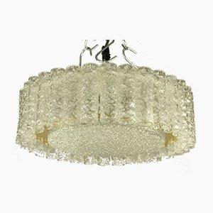Vintage Glasrohr Deckenlampe von Doria Leuchten, 1960er