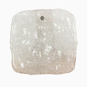 Mid-Century Eisglas Wandlampe von Kalmar Franken KG