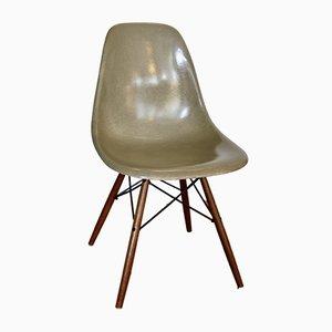 Ockerfarbener DSW Beistellstuhl von Charles & Ray Eames für Herman Miller, 1960er