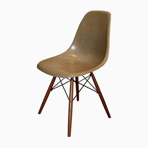 Ochre DSW Side Chair by Charles & Ray Eames for Herman Miller, 1960s