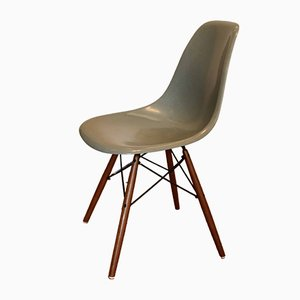 Light blue DSW Side Chair by Charles & Ray Eames for Herman Miller, 1960s