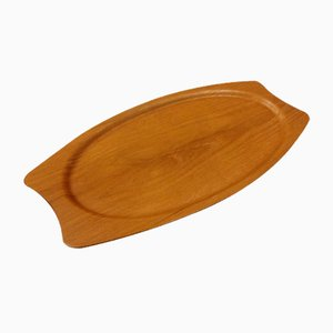 Light Coloured Teak Serving Tray from Silva, Denmark, 1960s