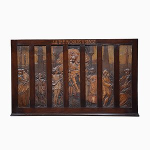 Large Walnut Framed Wall Plaque