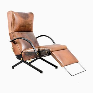 Vintage Model P40 Lounge Chair by Osvaldo Borsani for Tecno, 1950s