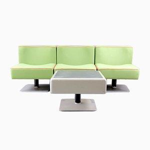 Vintage System 350 Stühle & Beistelltisch von Herbert Hirche für Mauser Werke Waldeck, 1970er, 4er Set