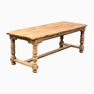 Bleached Oak Farmhouse Dining Table, 1860s