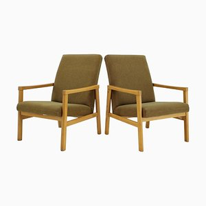 Beech Armchairs, Czechoslovakia 1960s, Set of 2