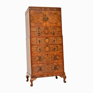 Burr Walnut Cabinet on Chest, 1920s
