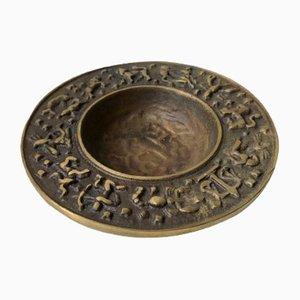 Dänische Vintage Zodiac Schale aus Bronze von Nordisk Malm, 1940er
