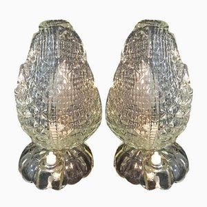 Lampes de Bureau Vintage de Seguso, Set de 2