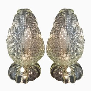 Vintage Tischlampen von Seguso, 2er Set