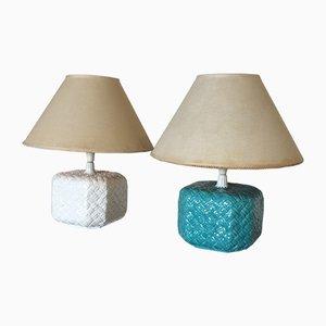 Mid-Century Tischlampen, 1960er, 2er Set