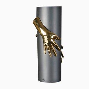 Italian Ceramic Hands Vase by Marco Segantin for Vgnewtrend