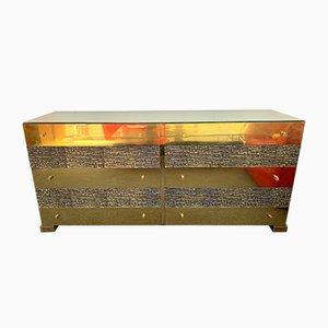 Italienisches Sideboard aus Messing & Bronze von Luciano Frigerio, 1970er
