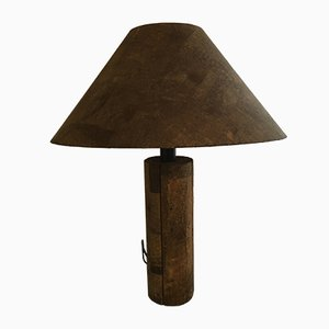 Large Vintage Cork Table Lamp by Ingo Maurer for Design M