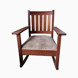 Antique Arts & Crafts Rocking Chair by Stickley