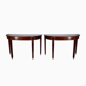 Antique Georgian Mahogany Console Tables, Set of 2