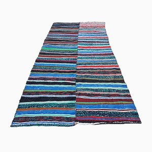 Vintage Turkish Striped Chaput Kilim Rug, 1970s