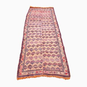 Vintage Turkish Orange Kilim Runner Rug, 1970s