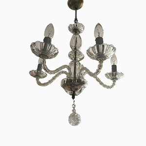 Venezianischer Glas Kronleuchter, 1950er