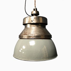German Gray Ceiling Lamp from Kandem Leuchten, 1930s