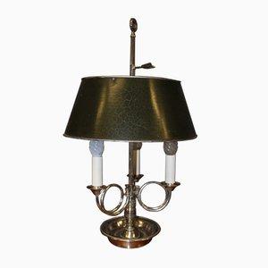 Lampes de Bureau Bouillottes en Bronze Argenté, 1940s, Set de 2