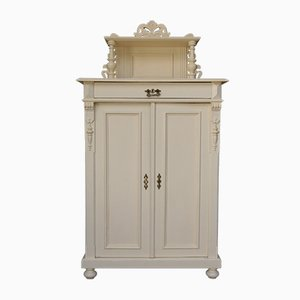 Antique Art Nouveau Cream Cabinet