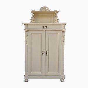 Antique Art Nouveau Cream Cabinet