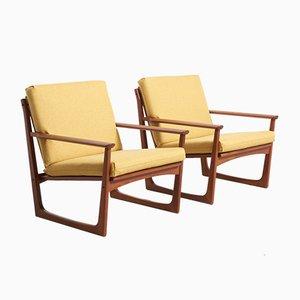 Dänische Sessel mit Rückenlehne aus Rattan von Hans Olsen für Juul Kristensen, 1960er, 2er Set
