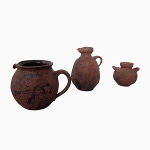 Mid-Century Keramik Krüge von Gerhard Liebenthron, 1970er, 3er Set