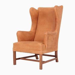 Vintage Leather Model 6212 High Back Chair by Kaare Klint for Rud. Rasmussen