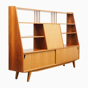 Ash and Walnut Shelf Sideboard, 1950s
