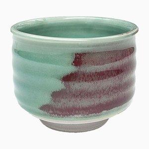 Handgemachte Steingut Teetasse mit Ochsenblut Glasur von Marcello Dolcini