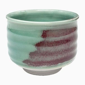 Handmade Stoneware Tea Cup with Oxblood Glaze by Marcello Dolcini