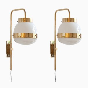 Mid-Century Delta Sconces by Sergio Mazza for Artemide, Set of 2