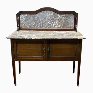 Vintage Mahogany and Marble Top Vanity Dressing Table