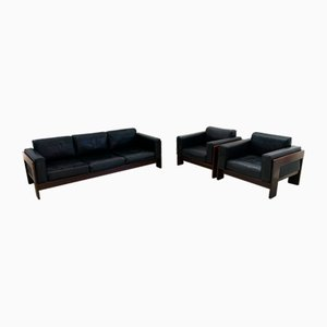 Rosewood Model Sebastian Sofa & Chairs Set by Tobia & Afra Scarpa for Gavina, 1962