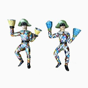 Ceramic Figurines Attributed to Otello Rosa, 1950s, Set of 2